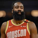 James Harden rocks retro Rockets jersey