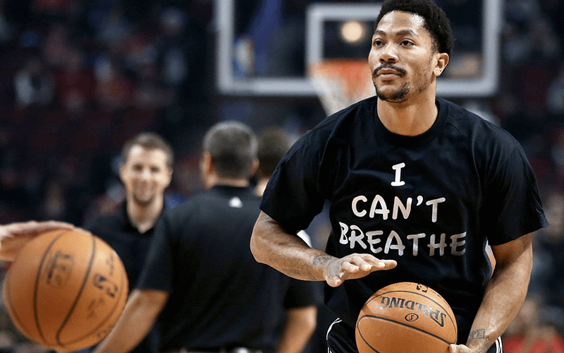 """Various NBA players wear """"I Can't Breathe"""" shirts"""