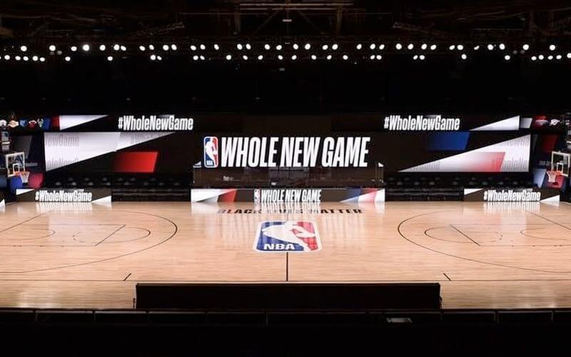 NBA Restart court