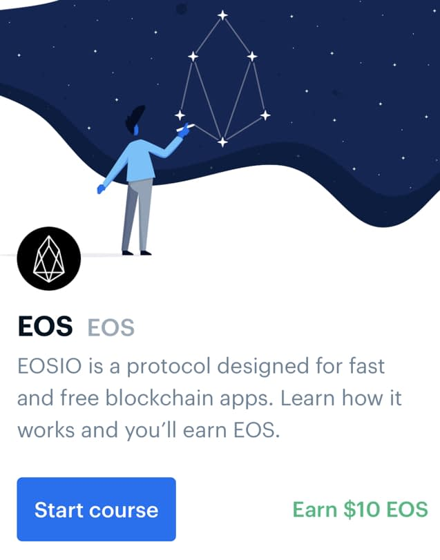 Earn EOS for free from Coinbase